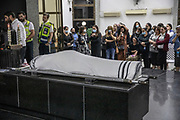 The body of 13 year old victim of the Mt. Meron Lag Ba'Omer celebrations stampede, Yedidia Hayut layed at the Sgula cemetery in Petach Tikva, Israel, May 02, 2021. Some 45 people lost their lives and hundred more were injured as a large crowd was crammed through a narrow corridor at the site of the tomb of the 2nd-century sage Rabi Shimon bar Yochai, also known by his acronym Rashbi.