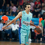 FC Barcelona Regal's Victor Sada during their Euroleague Final Four semifinal Game 2 basketball match Olympiacos's between FC Barcelona Regal at the Sinan Erdem Arena in Istanbul at Turkey on Friday, May, 11, 2012. Photo by TURKPIX