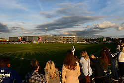 Bristol Academy Womens fans look on during a game between Bristol Academy v Birmingham City Ladies in the Womens Super League - Mandatory byline: Dougie Allward/JMP - 07966386802 - 05/09/2015 - FOOTBALL - SGS Wise Campus -Bristol,England - Bristol Academy Womens v Birmingham City Ladies - FA Womens Super League