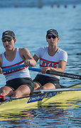 Henley-on-Thames. United Kingdom.  <br /> Women's Pair. USA W2-. Bow. Megan KALMOE and Tracy EISSER.  2017 Henley Royal Regatta, Henley Reach, River Thames. <br /> <br /> 18:46:06  Saturday  01/07/2017   <br /> <br /> [Mandatory Credit. Peter SPURRIER/Intersport Images.