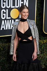 January 6, 2019 - Los Angeles, California, U.S. - Rosamund Pike during red carpet arrivals for the 76th Annual Golden Globe Awards at The Beverly Hilton Hotel. (Credit Image: © Kevin Sullivan via ZUMA Wire)