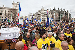 London, UK. 23rd March, 2019. A million people take part in a Put It Toe The People for a People's Vote rally in Parliament Square addressed by a selection of politicians and entertainers.
