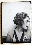 photo booth style portrait of a woman