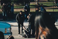 THEMENBILD - Polizisten nehmen einen Unruhestifter im French Quarter fest, aufgenommen am 04.01.2019, New Orleans, Vereinigte Staaten von Amerika // policemen arrst a troublemaker in the French Quarter, New Orleans, United States of America on 2019/01/04. EXPA Pictures © 2019, PhotoCredit: EXPA/ Florian Schroetter