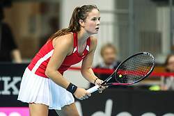 February 7, 2019 - Zielona Gora, Poland - Daria Kasatkina (RUS) during Tennis 2019 Fed Cup by Paribas Europe/Africa Zone Group 1  match between Russia and Denmark  in Zielona Gora, Poland, on February 7, 2019. (Credit Image: © Foto Olimpik/NurPhoto via ZUMA Press)