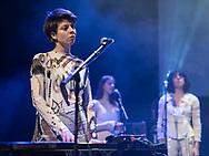 Ásthildur Ákadóttir playing keyboard for her twin sister JFDR at Iceland Airwaves