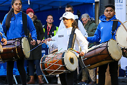 © Licensed to London News Pictures. 30/12/2019. London, UK. Performers from London School of Dhol perform at the preview of the London New Year's Day Parade inCovent Garden Piazza.<br /> The London New Years Day Parade, in its 32nd year will take place on 1 January 2020 and will feature more than 10,000 performers from across the world. Photo credit: Dinendra Haria/LNP