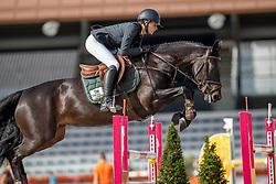 Verheij Jil, NED, Cadeauminka<br /> Nationaal Kampioenschap KWPN<br /> 7 jarigen springen final<br /> Stal Tops - Valkenswaard 2020<br /> © Hippo Foto - Dirk Caremans<br /> 19/08/2020