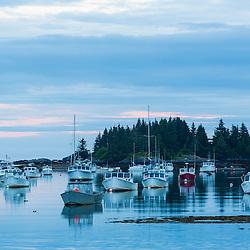 Morning in Vinalhaven, Maine.
