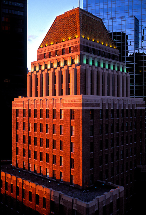Boston's first and best art deco building, the United Shoe Machinery Building, also known as The Landmark on Federal Street, was builit in 1930 and is a registered Boston landmark.