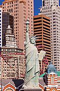 Exterior New York New York casino and resort in Las Vegas, NV.
