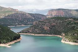 Lakes in the river Rio Noguera in Catalonia Catalunya,