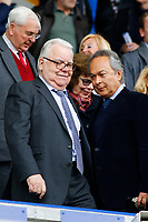 Football - 2018 / 2019 Premier League - Everton vs. Arsenal<br /> <br /> Everton chairman Bill Kenwright and Everton owner Farhad Moshiri in the Directors box before the game, at Goodison Park.<br /> <br /> COLORSPORT/ALAN MARTIN