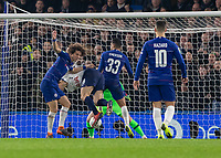 Football - 2018 / 2019 EFL Carabao Cup (League Cup) - Semi-Final, Second Leg: Chelsea (0) vs. Tottenham Hotspur (1)<br /> <br /> An off ballance Fernando Llorente (Tottenham FC)  somehow connects with the ball and brings his team level on aggregate at Stamford Bridge <br /> <br /> COLORSPORT/DANIEL BEARHAM