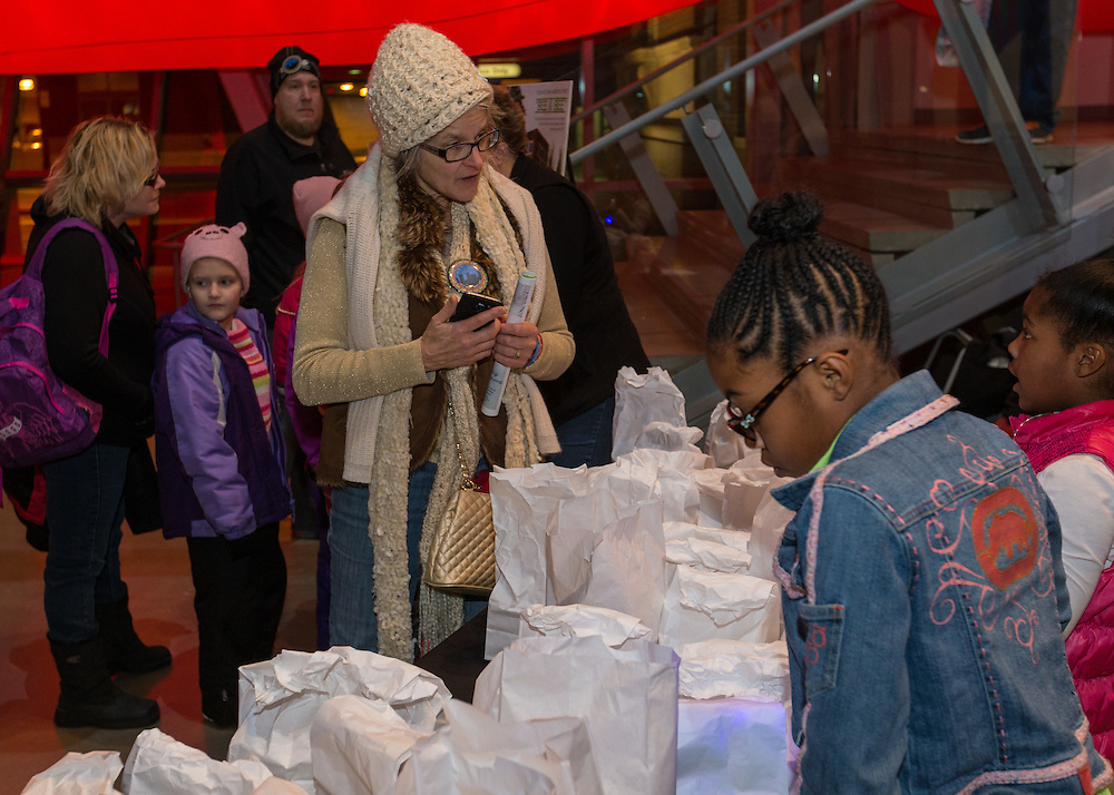 Activities in the Akron Art Museum at First Night Akron 2017 on Dec. 31, 2016.