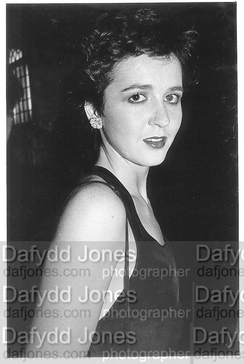 Charlotte Fraser, London. 1985 approx. © Copyright Photograph by Dafydd Jones 66 Stockwell Park Rd. London SW9 0DA Tel 020 7733 0108 www.dafjones.com