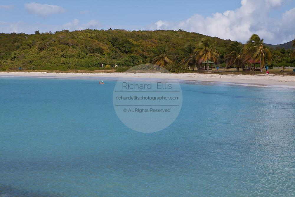 Red Beach or playa caracas beach in Vieques Island, Puerto Rico.