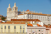 São Vicente Monastery seen from Portas do Sol lookout in Lisbon.