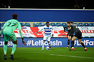 Queens Park Rangers (QPR) midfielder Bright Osayi-Samuel (11) dribbling into box during the EFL Sky Bet Championship match between Queens Park Rangers and Rotherham United at the Kiyan Prince Foundation Stadium, London, England on 24 November 2020.