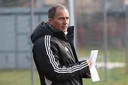 Darko Milanic, head coach of Maribor of NK Maribor exercise during the first day of team Spring Training on January 9, 2013 in Maribor, Slovenia. (Photo By Gregor Krajncic / Sportida.com)
