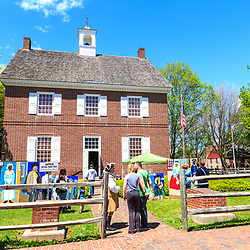 York, PA / USA - May 8, 2016: An open house at a replica of the original York County courthouse, which was constructed in 1976.