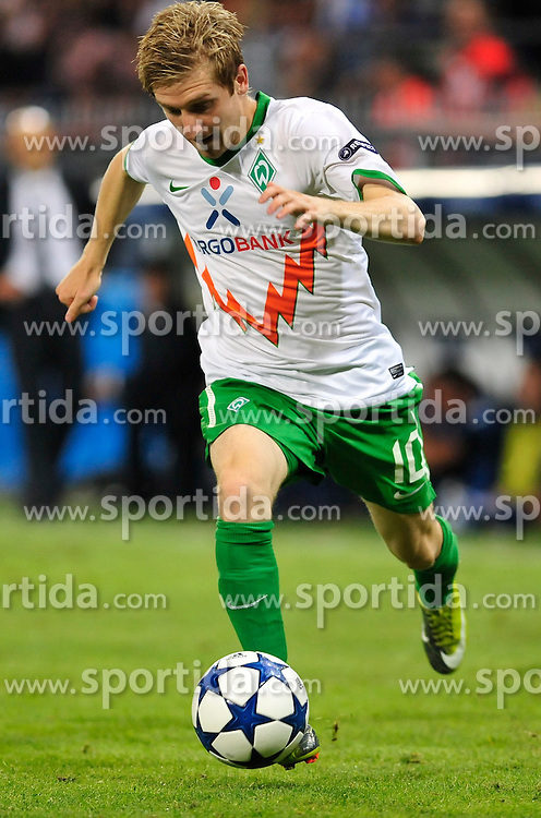 24.08.2010, Lugio Ferraris Stadion, Genua, ITA, UEFA CL, Werder Bremen vs Sampdoria Genua, im Bild Marko Marin (Bremen #10), Hochformat / Upright Format, Einzelaktion / Aktion, Hochformat / Upright Format,  EXPA Pictures © 2010, PhotoCredit: EXPA/ nph/  Roth+++++ ATTENTION - OUT OF GER +++++ / SPORTIDA PHOTO AGENCY