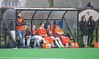 20170319 BLOEMENDAAL - HOCKEY - landelijke jeugdcompetitie Bloemendaal Jongens JA1-Schaerweijde jongens JA1 (2-8). De Dug-out   van Bloemendaal  COPYRIGHT KOEN SUYK