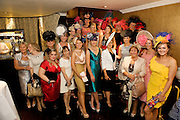 Some of the Finalists at the Hotel Meyrick's Best Dressed lady competition in the hotel in Eyre Sq. Galway during Galway's Race week . Photo:Andrew Downes