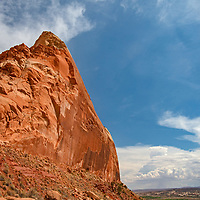 A sandstone tower rises along Comb Ridge in what remains of  Bears Ears National Monument after it was downsized by the Trump administration in 2017.
