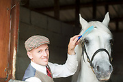 17/08/2017 Micheal Harty with Cashelbay Prince at the Connemara Pony Show in Clifden. Photo:Andrew Downes, xposure