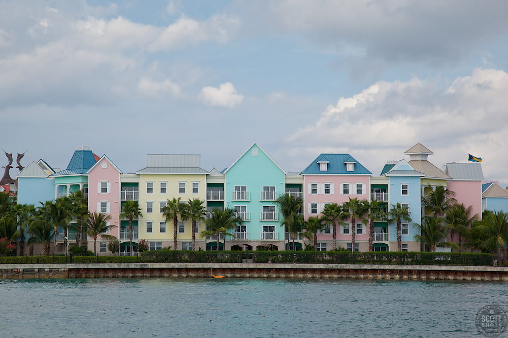 Houses on Paradise Island, Bahamas.