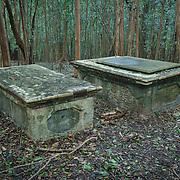 19th century graves at Cinnamon Bay plantation