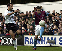 Picture: Henry Browne.<br /> Date: 14/02/2004.<br /> Fulham v West Ham FA Cup Fifth Round.<br /> <br /> Matthew Etherington of West Ham tries to evade Fulham's Sylvain Legwinski.