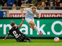 05.10.2016, Merkur Arena, Graz, AUT, UEFA CL, Damen, SK Sturm Graz Damen vs FC Zuerich Frauen, Sechzehntelfinale, Hinspiel, im Bild Stephanie Kovacs (Graz), Sanni Franssi (Zuerich) // during the UEFA Womens Championsleague, round of 32, 1st Leg match between SK Sturm Graz Women and FC Zuerich Women at the Merkur Arena, Graz, Austria on 2016/10/05, EXPA Pictures © 2016, PhotoCredit: EXPA/ Dominik Angerer