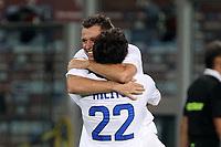 """Esultanza di Antonio Cassano Inter<br /> Goal celebration<br /> Torino 16/09/2012 Stadio """"Olimpico""""<br /> Football Calcio Serie A 2012/13<br /> Torino v Inter<br /> Foto Insidefoto Paolo Nucci"""
