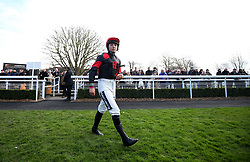 Jockey Bryony Frost before the Get Switched On With Matchbook Juvenile Handicap Hurdleat Sandown Park Racecourse, Esher.