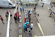 Amsterdam. NETHERLANDS.  General Views of crews rigging their boats after arriving at the venue, for the 2014 FISA  World Rowing. Championships.  De Bosbaan Rowing Course. 16:00:58  Wednesday,  20/08/2014  [Mandatory Credit; Peter Spurrier/Intersport-images]