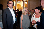ANTHONY WILKINSON; SIGRID WILKINSON, Tate Summer Party. Celebrating the opening of the  Fiona Banner. Harrier and Jaguar. Tate Britain. Annual Duveens Commission 29 June 2010. -DO NOT ARCHIVE-© Copyright Photograph by Dafydd Jones. 248 Clapham Rd. London SW9 0PZ. Tel 0207 820 0771. www.dafjones.com.