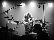 Keli of Icelandic alternative-rock band Agent Fresco at Iceland Airwaves