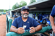 31 May 2016: Nova Southeastern assistant coach Eric Cruz. The Nova Southeastern University Sharks played the Lander University Bearcats in Game 8 of the 2016 NCAA Division II College World Series  at Coleman Field at the USA Baseball National Training Complex in Cary, North Carolina. Nova Southeastern won the game 12-1.