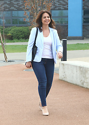 March 30, 2019 - Cambourne, Cambridgeshire, United Kingdom - MP for South Cambridgeshire, Heidi Allen seen during a Public Meeting in her constituency, at Cambourne Village College..The former Conservative MP, who left the party to join the new Independent Group was named as the interim leader. The group is to register as a full political party - to be called 'Change UK – The Independent Group' and contest in the upcoming European Parliament elections. Allen was the unanimous choice of the party's current 11 MPs, until a full election at the party's inaugural conference in September. (Credit Image: © Keith Mayhew/SOPA Images via ZUMA Wire)