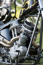 Born Free-7 Invitational Builder bike corral on setup day. Silverado, CA, USA. Saturday, June 26, 2015.  Photography ©2015 Michael Lichter.