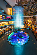 Light show at the Shoppes at Marina Bay Sands, Singapore, Republic of Singapore