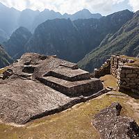 A carved stone altar at Machu Picchu.