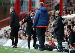 Bristol City head coach Lee Johnson reacts - Mandatory by-line: Dougie Allward/JMP - 16/04/2016 - FOOTBALL - Griffin Park - Brentford, England - Brentford v Bristol City - Sky Bet Championship