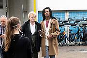 UTRECHT, 27-09-2020 , Kinepolis Bioscoop Jaarbeurs<br /> <br /> Première I.M.Vliegende Hollanders op het Nederlands Film Festival 2020 bij Kinepolis Bioscoop Jaarbeurs, Utrecht.<br /> <br /> Op de foto:    Jeangu Macrooy en vriend Sebas van der Sangen
