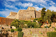 Neo Frourio  [ ??? ??????? ] Corfu City, Greek Ionian Islands .<br /> <br /> If you prefer to buy from our ALAMY PHOTO LIBRARY  Collection visit : https://www.alamy.com/portfolio/paul-williams-funkystock/corfugreece.html <br /> <br /> Visit our GREECE PHOTO COLLECTIONS for more photos to download or buy as wall art prints https://funkystock.photoshelter.com/gallery-collection/Pictures-Images-of-Greece-Photos-of-Greek-Historic-Landmark-Sites/C0000w6e8OkknEb8