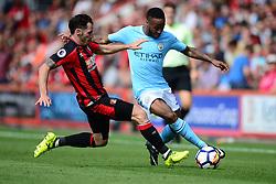 Adam Smith of Bournemouth tackles Raheem Sterling of Manchester City - Mandatory by-line: Alex James/JMP - 26/08/2017 - FOOTBALL - Vitality Stadium - Bournemouth, England - Bournemouth v Manchester City - Premier League