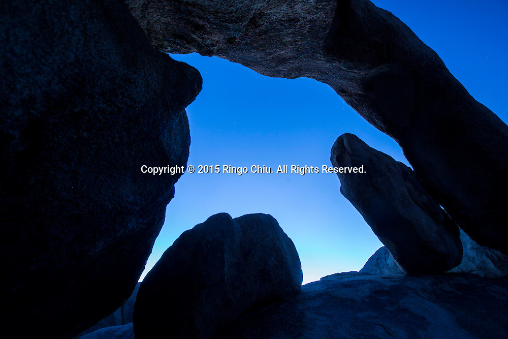 The Arch Rock at Joshua Tree National Park in Twentynine Palms, California, January 25, 2015. ( Photo by Ringo Chiu/PHOTOFORMULA.com)