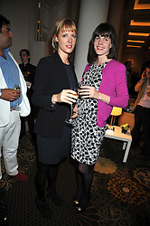 Left to right, EMMA WIGIN and LADY LAURA CATHCART at a party to celebrate the relaunch of the Langham Hotel, Portland Place, London on June 10th 2009.